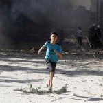 Nine killed as Assad's forces bombard school in rebel-held Syrian city