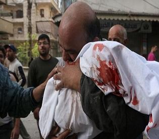 hromedia Syria Deadly air strike on Aleppo market 'kills more than 30' arab uprising4