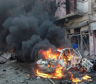 hromedia Syria army advances in Homs as car bomb kills 14 arab uprising2