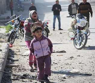 hromedia Syrian fighter jets strike kill at least 7 in a suburb of Damascus arab uprising2