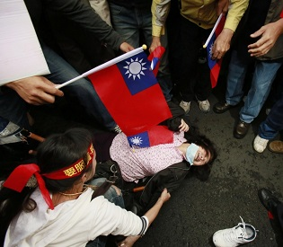 hromedia Taiwan sunflower protesters set to end parliament occupation intl. news2
