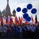 Moscow holds first Red Square May Day parade since Soviet era