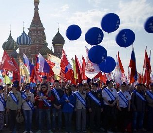 hromedia Moscow holds first Red Square May Day parade since Soviet era eu news5