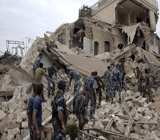 hromedia Syrian rebels blow up historic Aleppo hotel used by Assad forces arab uprising2