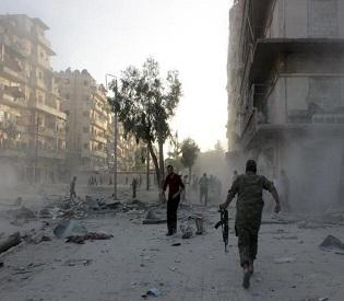 hromedia Tunnel bomb in Aleppo kills 40 Syrian soldiers arab uprising2
