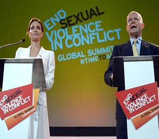 hromedia Angelina Jolie, UK's William Hague, host summit on sexual violence in wars intl. news2
