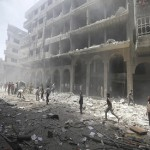 Syria jets pound rebel town near Damascus