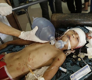 hromedia Children killed in Gaza camp as world pleads for truce arab uprising2