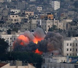 hromedia Israel's deadliest bombing turns Gaza City into ghost town arab uprising4