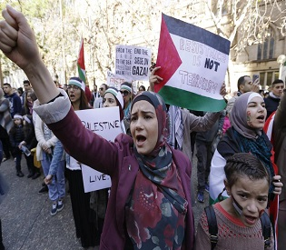 hromedia Protesters clashes in Paris as thousands march against Israel offensive eu news3