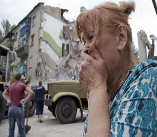 hromedia Ukraine airstrike kills 11, demolishes apartment block in separatist area eu news2