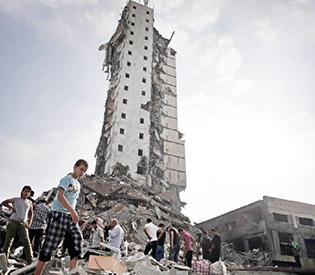 hromedia Israel destroys 2 Gaza high-rises in escalation