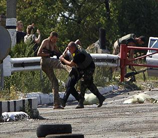 hromedia Ukraine border guards clash with rebels near Russian border