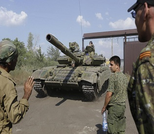 hromedia Ukraine rebels getting tanks and reinforcements, says separatist leader eu news2