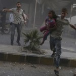 42 civilians killed by Assad government air raids near Damascus