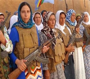 hromedia 'Grannies with Kalashnikovs' last line of Kurdish defence for besieged Kobane town arab uprising2