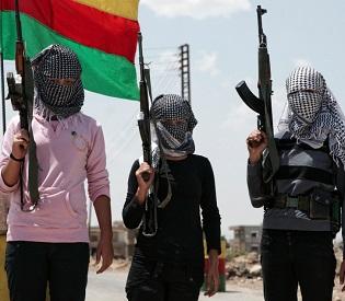 hromedia Kurdish woman suicide bomber blows herself up on ISIS arab uprising4