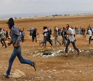 hromedia Kurds mount fierce last stand as ISIS surrounds town, Kobane's fall looks imminent arab uprising4