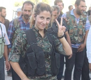 hromedia Poster girl for Kurdish freedom fighters in Kobane 'captured and beheaded by ISIS' arab uprising2