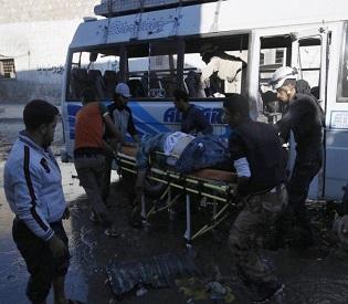 hromedia Syrian school blasts kill 22, including 10 kids arab uprising2
