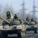 Fears of all-out Ukraine war grow as military vehicles move towards Donetsk