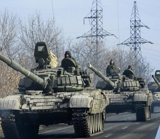 hromedia Fears of all-out Ukraine war grow as military vehicles move towards Donetsk eu news3