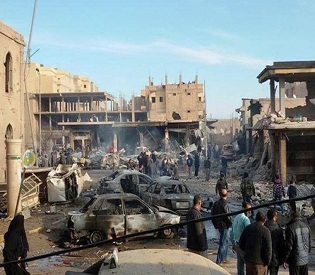 hromedia Toll in Syrian airstrike on IS group rises to 95 arab uprising2
