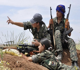 hromedia Women Are on the Front Lines Against ISIS in Kobane arab uprising1