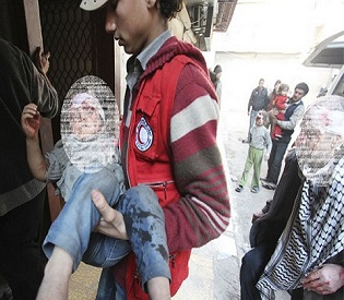 hromedia 82 civilians killed by Syrian air force strikes following Damascus rocket attack arab uprising24