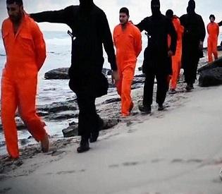 hromedia Egyptian jets bomb ISIS positions after jihadists behead 21 Coptic Christians arab uprising2