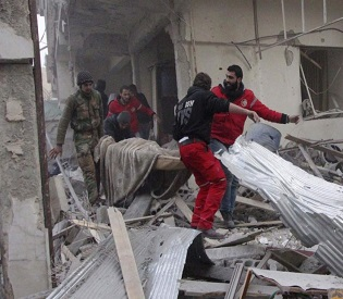 hromedia More than 50 dead as Assad forces, rebels trade fire around Syria capital arab uprising2