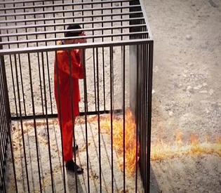 hromedia New ISIS video shows Jordanian pilot burnt alive arab uprising6