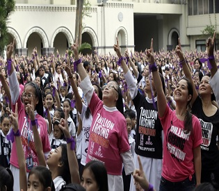 hromedia Philippines Manila students protest to end violence against women intl. news4