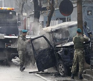 hromedia Two killed as suicide bomber strikes top NATO envoy team in Afghanistan intl. news2