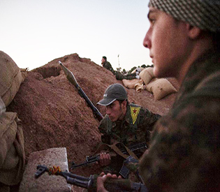 IS in major assault on Syria border town3
