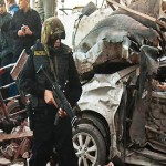 Suicide car bombing kills civilian, wounds 25 Egyptian police in Sinai