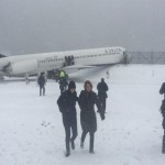 Delta flight with 125 on board skids off runway at New York's LaGuardia Airport