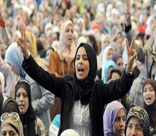 hromedia Moroccan women hold mass rally for equality womens rights2