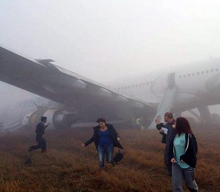 hromedia Turkish Airlines plane with 238 on board crash-lands in Nepal intl. news4