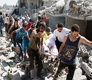Missile kills 18 civilians in Syria's Aleppo- monitor
