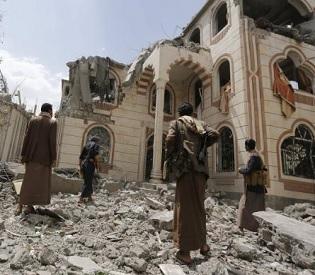 air strikes kill nearly 100 in Yemen