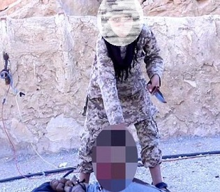 hromedia ISIS jihadis force young BOY to carry out beheading for 'first time' arab uprising2