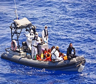 At least 40 migrants die in Mediterranean- Italy navy