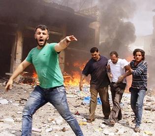 Syria regime raids 'kill 31 civilians' near Damascus