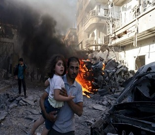 hromedia Death toll from Syrian regime airstrikes rises to 247 in ten days arab uprising3