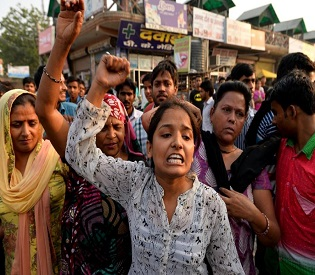 hromedia New Delhi reels after rapes of girls aged two and five intl. news2