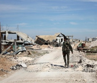 heaviest east Syria strikes