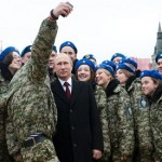 Tens of thousands march in Moscow as Putin extols patriotism