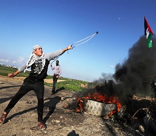 in Gaza stone-throwing