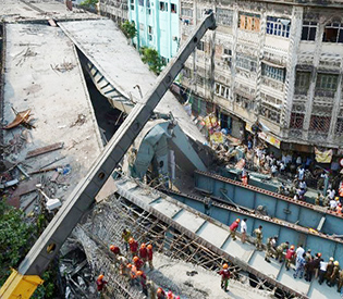 At least 20 killed as flyover collapses in India's Kolkata